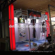 Diseños de 10x20 stands para exposición comercial de material modular y portátil