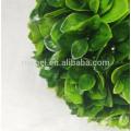 Alta calidad techo colgante decoración artificial hoja topiary bola
