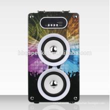 super bass USB mp3 wooden speaker portable dj equipment home theater system speaker