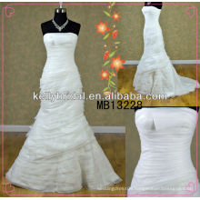 China made Organza wedding gowns /bridal dress with good qaulity