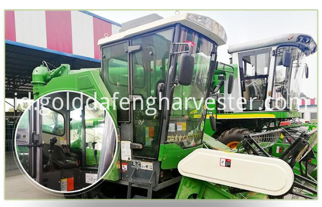 full-feeding rice combine harvester-Cab