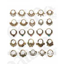 30pcs Meilleures ventes Mix Brass Septum piercing