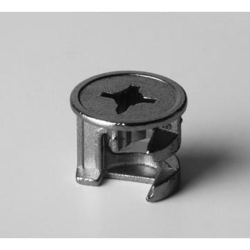 Fixation de connecteur de meubles avec écrou de blocage à came