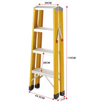 A type steps fiberglass ladder
