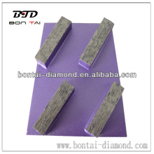 New Diamond Rhombus Floor Grinding Plate / Block
