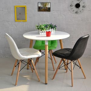 Iconic Designs White DSW Eames Dining Table