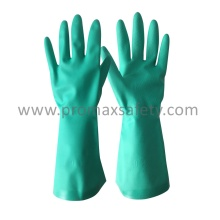 Gant industriel Nitrile vert 15 mm DIP Flocked
