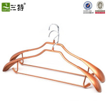 stainless pvc coat metal gold clothes hanger