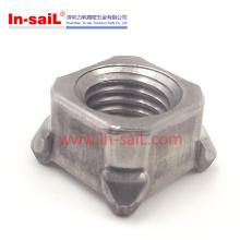 DIN928 Quadrangle-Schweißens-Nuss-Kohlenstoffstahl-Möbel-Nüsse