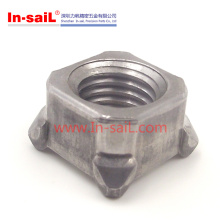 M4-M16 Carbon Steel Square Nuts with Four Welding Points