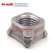 Porcas da mobília do aço carbono das porcas da soldadura do quadrilátero DIN928