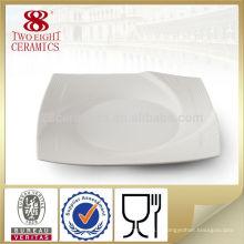 Vaisselle en céramique 10.5 assiette carrée chauffée en céramique