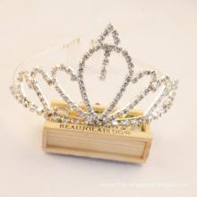 Menina festa coroa casamento pageant rhinestone tiaras