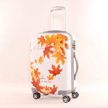 Sacs à la mode 20 pouces PC de 24 pouces petite gamme fraîche de chariot à roulettes Universal Maple Leaf Pattern
