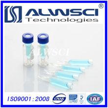 Vial de 2 ml con inserto vial de HPLC vial de vidrio tubular transparente