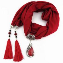 Art- und Weisefrauen eleganter Charme-Quasten-Rhinestone verzierte Schmuck-hängende Halsketten-Schal mit verschiedenen Farben