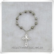 6mm Matel Beads Finger Rosary with Cross, Finger Rosary (IO-ce087)