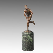 Statue sportive Rugby Player Bronze Sculpture, Milo TPE-723