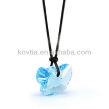 Wholesale natural diamond jewelry transparent crystal pendant
