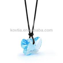 Atacado jóia de diamante natural pingente de cristal transparente