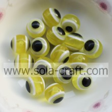Round Wholesale Chunky 10MM 500Pcs Yellow Solid Resin Beads For Necklace And Bracelet