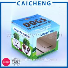 Logo personalizado impreso plegado caja de papel de embalaje pequeño