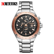 Rose Gold Casual Ladies Relógios Quartz Men