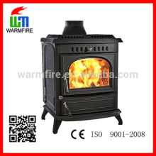Model WM704A multi-fuel cast iron water jacket wood burning stove