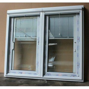 Ventanas corredizas de lujo UPVC con persianas incorporadas Foshan Factory
