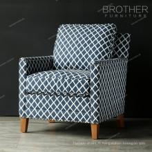 Canapé rembourré en tissu moderne canapé en bois avec coussin