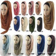 Fashion thickness women wholesale muslim scarf bubble chiffon shawl scarf hijab