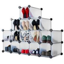 Bricolage en plastique étagère armoire garde-robe armoire étagère salle de bain étagère à chaussures