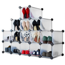 Estante de sapato de prateleira de banheiro de armário de guarda-roupa de estante de armário de estante de plástico DIY