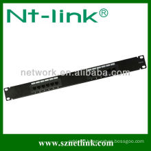 1u 19inch 12 port cat5e rj45 utp patch panel