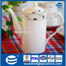 Novo pote de chá de china de osso, pote de chá de cerâmica