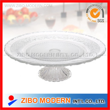 Glass Plates Wholesale Big Glass Plate with Base