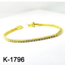 El micr3ofono de plata de la manera pavimenta las pulseras de la joyería de la configuración de la CZ (K-1796 .JPG)