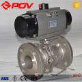 Flange stainless steel ball valve 3 way pneumatic valves