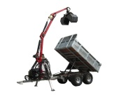 ATV Forest Trailer Crane 350 with Hydraulic Winch