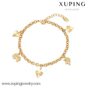 73917-Xuping Joyería Moda Generosa Venta Caliente Mujer Pulsera con 18 K chapado en oro