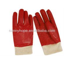 Handtuch gefütterte PVC-beschichtete Handschuhe