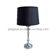 Modern Black Crystal Table Lamp with Fabric Shade for Bedside Decoration (JG-TL046)