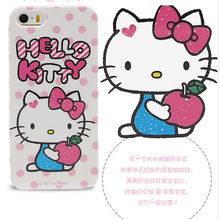 Cute Silicon Case for iPhone 5 3D Hello Kitty Cover