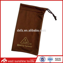 Bolsas de lentes de microfibra con logotipo dorado