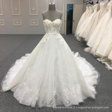Princesse Robe De Mariée Sans Bretelles Robes Puffy Vestidos De Novia Robe De Mariée Robes De Mariée Avec Ceinture Vrai Échantillons