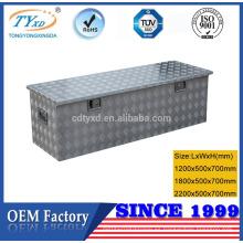 caja de herramientas de aluminio de perfil bajo OEM de alta calidad
