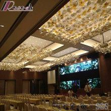 Iluminação de pingente de vidro flor moda com lobby do hotel