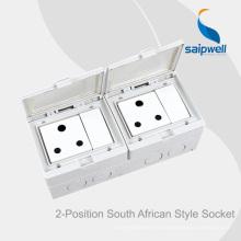 Saipwell High Quality Interrupteur et prise étanche pour montage en surface pour l'Afrique du Sud