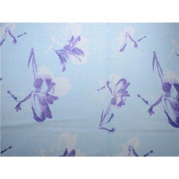 Печать хлопчатобумажной ткани хлопчатобумажной ткани Ramie (DSC-4122)