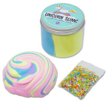 UNICORN FLUFFY SLIME WITH RAINBOW BALLS-0